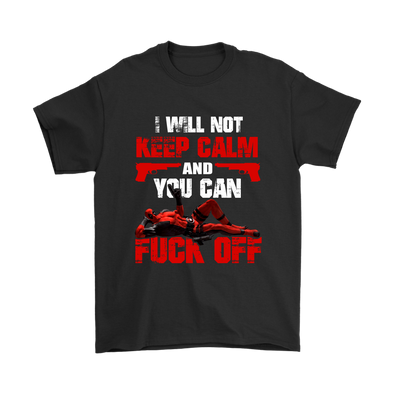 I Will Keep Calm And You Can Fuck Off Deadpool Shirts-T-shirt-Gildan Mens T-Shirt-Black-S-Geek Mundo Store