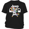 Jeep Unicorn Dabbing Shirts-T-shirt-District Youth Shirt-Black-XS-Geek Mundo Store