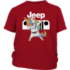 Jeep Unicorn Dabbing Shirts-T-shirt-District Youth Shirt-Red-XS-Geek Mundo Store