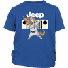 Jeep Unicorn Dabbing Shirts-T-shirt-District Youth Shirt-Royal Blue-XS-Geek Mundo Store