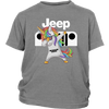 Jeep Unicorn Dabbing Shirts-T-shirt-District Youth Shirt-Sport Grey-XS-Geek Mundo Store