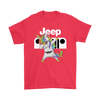 Jeep Unicorn Dabbing Shirts-T-shirt-Gildan Mens T-Shirt-Red-S-Geek Mundo Store
