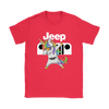 Jeep Unicorn Dabbing Shirts-T-shirt-Gildan Womens T-Shirt-Red-S-Geek Mundo Store