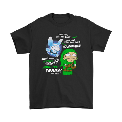 Link And Navi Forever And Ever Rick And Morty The Legend Of Zelda Shirts-T-shirt-Geek Mundo Store