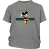 Official Happy Mickey Mouse Disney Shirts-T-shirt-District Youth Shirt-Sport Grey-XS-Geek Mundo Store