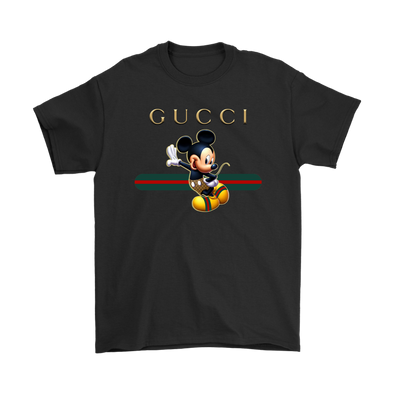 Official Happy Mickey Mouse Disney Shirts-T-shirt-Gildan Mens T-Shirt-Black-S-Geek Mundo Store