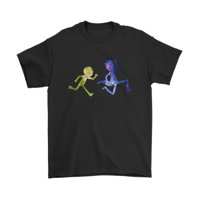 Official Rick And Morty Running Shirts-T-shirt-Gildan Mens T-Shirt-Black-S-Itees Global