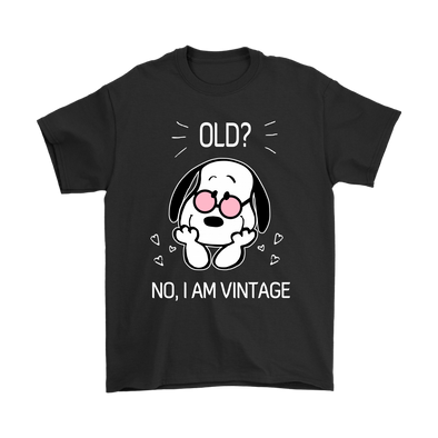 Old No I Am Vintage Shirts-T-shirt-Gildan Mens T-Shirt-Black-S-Itees Global
