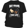 Rottweiler Best Friends For Life Dog Shirts-T-shirt-District Youth Shirt-Black-XS-Geek Mundo Store