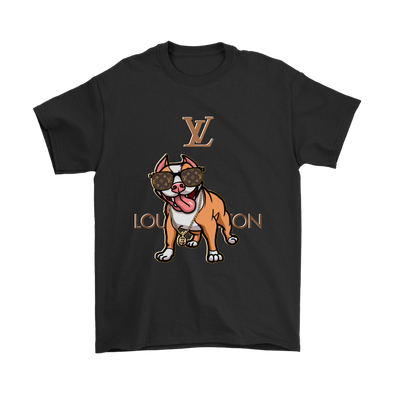 Pitbull Louis Vuitton Shirts-T-shirt-Gildan Mens T-Shirt-Black-S-Itees Global