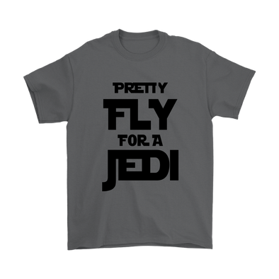 Pretty Fly For A Jedi Star Wars Shirts-T-shirt-Gildan Mens T-Shirt-Charcoal-S-Itees Global