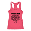 Football Mom The Sweetest Most Beautiful Loving Amazing Evil Psychotic Creature You'll Ever Meet Sweatshirts-T-shirt-Next Level Racerback Tank-Hot Pink-XS-Itees Global