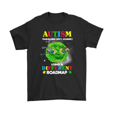 Rick And Morty Autism Travelling Life's Journey Shirt-T-shirt-Geek Mundo Store