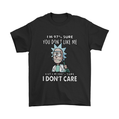 Rick And Morty I'm 97% Sure You Don't Like Me Shirts-T-shirt-Gildan Mens T-Shirt-Black-S-Itees Global