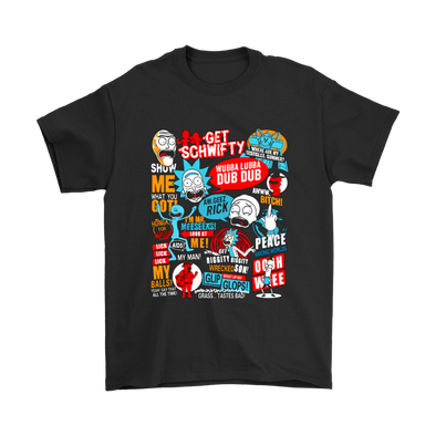 Rick And Morty Quotes Shirts-T-shirt-Gildan Mens T-Shirt-Black-S-Itees Global