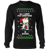 All I Want For Christmas Is Books Snoopy The Peanuts Movie Sweatshirt-T-shirt-Long Sleeve Shirt-Black-S-Geek Mundo Store