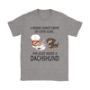 A Woman Can Not Survive On Coffee Alone She Also Needs A Dachshund Love Dogs Shirts-T-shirt-Gildan Womens T-Shirt-Sport Grey-S-Geek Mundo Store