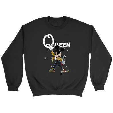 QUEEN FREDDIE MERCURY MICKEY SHIRTS-T-shirt-Crewneck Sweatshirt-Black-S-Itees Global