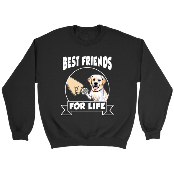 Labrador Retriever Best Friends For Life Dog Shirts-T-shirt-Crewneck Sweatshirt-Black-S-Geek Mundo Store