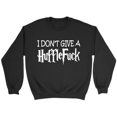 I Don't Give A HuffleFuck Harry Potter Sweatshirt-T-shirt-Crewneck Sweatshirt-Black-S-Itees Global