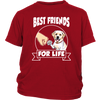 Labrador Retriever Best Friends For Life Dog Shirts-T-shirt-District Youth Shirt-Red-XS-Geek Mundo Store