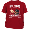 Rottweiler Best Friends For Life Dog Shirts-T-shirt-District Youth Shirt-Red-XS-Geek Mundo Store