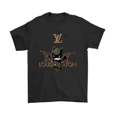 Superhero Batman Louis Vuitton Movies Shirts-T-shirt-Gildan Mens T-Shirt-Black-S-Itees Global
