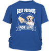Labrador Retriever Best Friends For Life Dog Shirts-T-shirt-District Youth Shirt-Royal Blue-XS-Geek Mundo Store