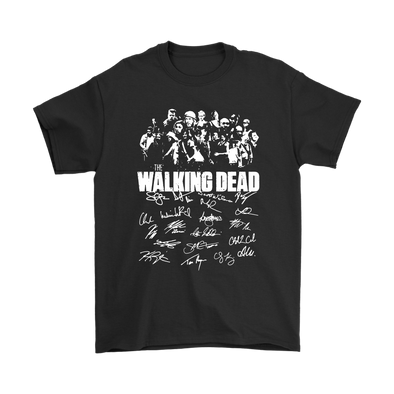 The Walking Dead Signature Shirts-T-shirt-Gildan Mens T-Shirt-Black-S-Itees Global
