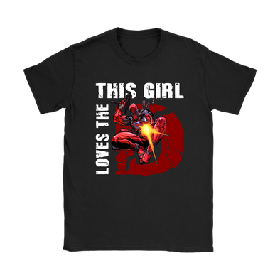 This Girl Loves The Deadpool Shirts-T-shirt-Gildan Womens T-Shirt-Black-S-Geek Mundo Store