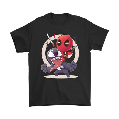Venom Deadpool Shirts-T-shirt-Gildan Mens T-Shirt-Black-S-Geek Mundo Store