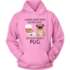 A Woman Can Not Survive On Coffee Alone She Also Needs A Pug Love Dogs Shirts-T-shirt-Unisex Hoodie-Pink-S-Geek Mundo Store