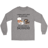 A Woman Can Not Survive On Coffee Alone She Also Needs A Dachshund Love Dogs Shirts-T-shirt-Gildan Long Sleeve Tee-Sports Grey-S-Geek Mundo Store