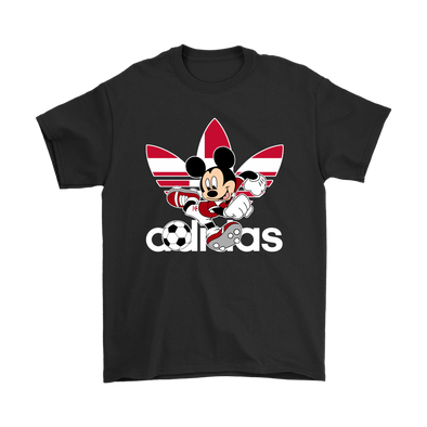 World Cup 2018 Denmark Mickey Mouse Adidas Shirts-T-shirt-Gildan Mens T-Shirt-Black-S-Itees Global