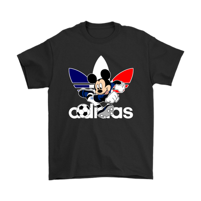 World Cup 2018 France Mickey Mouse Adidas Shirts-T-shirt-Gildan Mens T-Shirt-Black-S-Itees Global
