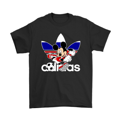 World Cup 2018 Russia Mickey Mouse Adidas Shirts-T-shirt-Gildan Mens T-Shirt-Black-S-Geek Mundo Store