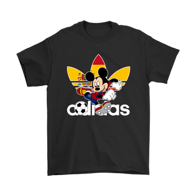 World Cup 2018 Spain Mickey Mouse Adidas Shirts-T-shirt-Gildan Mens T-Shirt-Black-S-Geek Mundo Store
