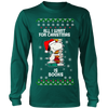 All I Want For Christmas Is Books Snoopy The Peanuts Movie Sweatshirt-T-shirt-Long Sleeve Shirt-Dark Green-S-Geek Mundo Store