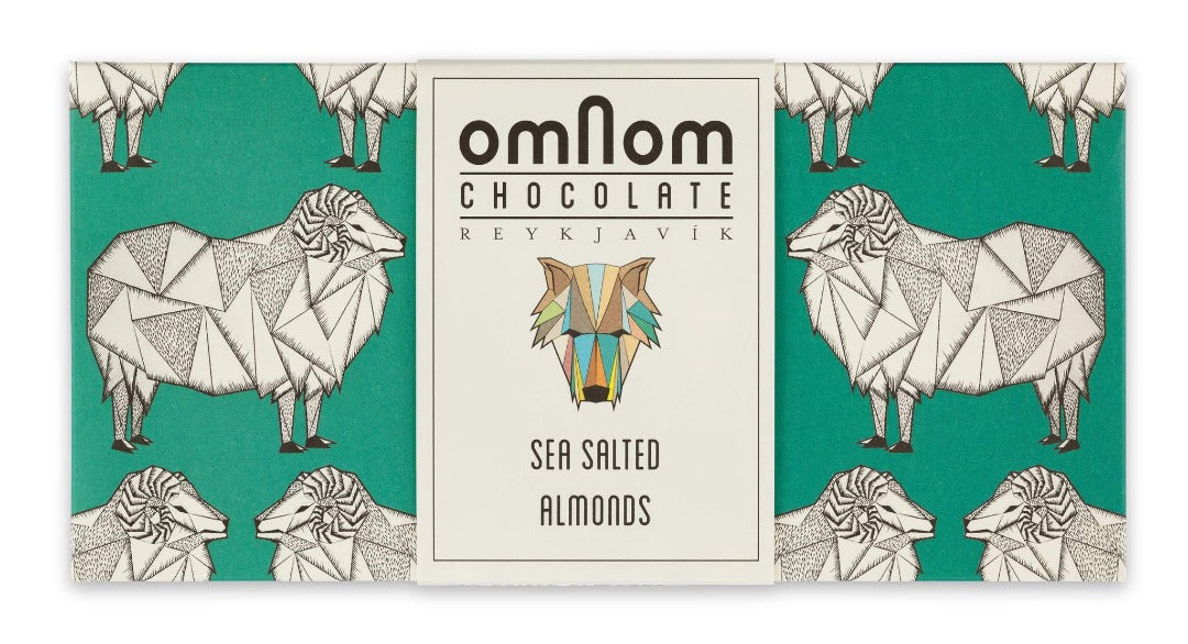 Omnom Chocolate Sea Salted Almonds + Milk BIG 250g