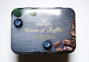 Dream of Sweden Cocoa Powdered Blueberry Truffles