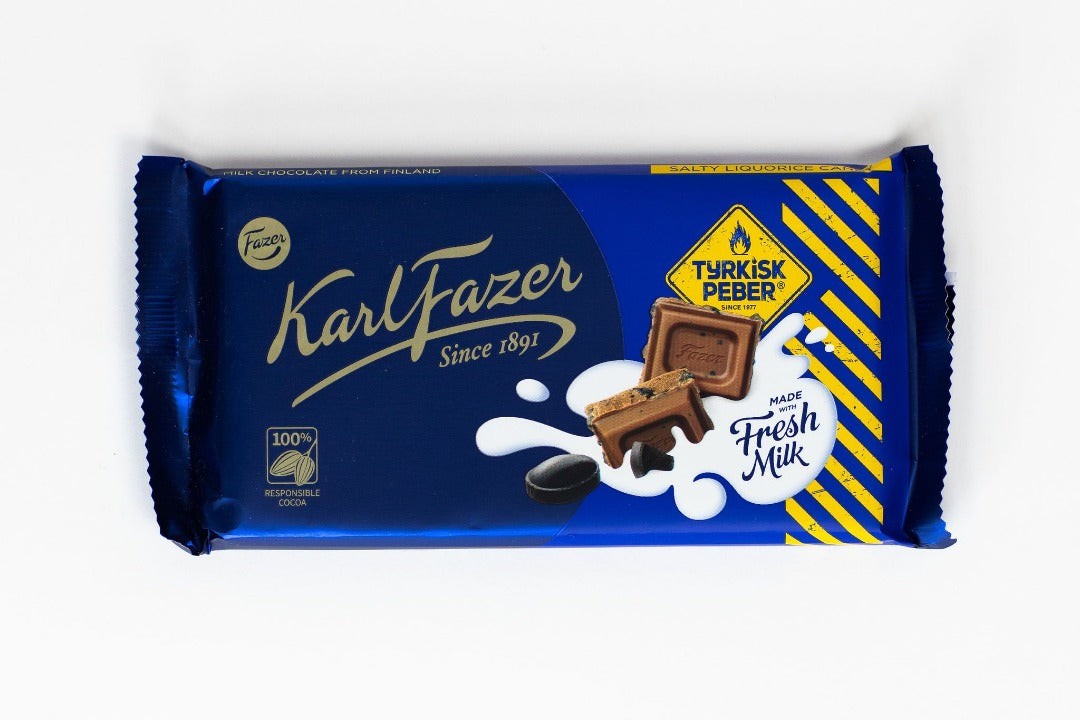 Karl Fazer Fresh Milk Chocolate with Turkish Pepper