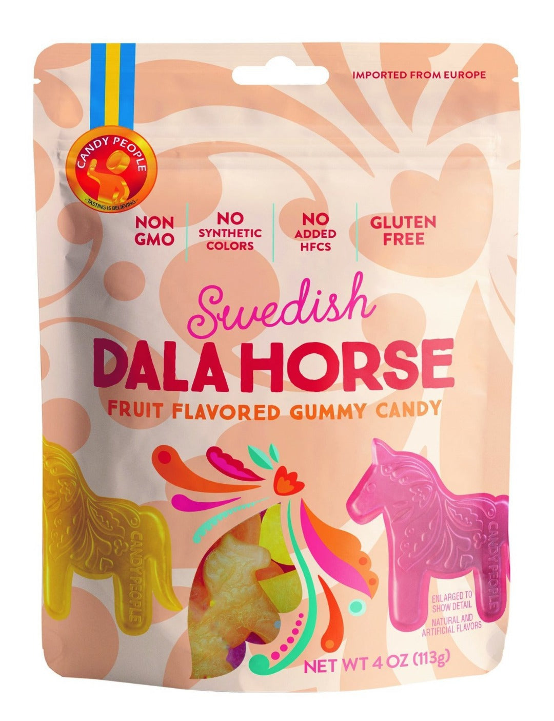 Candy People- Bagged Swedish Dala Horse