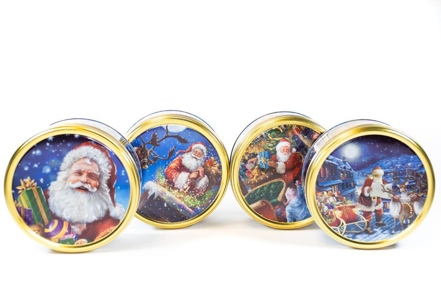 Jacobsens Nostalgic Santa Cookie Tin