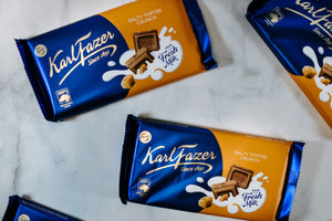 Karl Fazer Salty Toffee Crunch Bar 145g