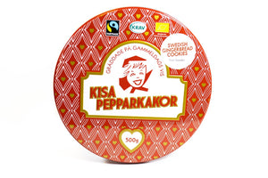 Kisa Pepparkakor Swedish Gingerbread Cookies Christmas Retro Tin