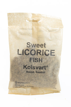 Kolsvart Sweet Licorice Fish