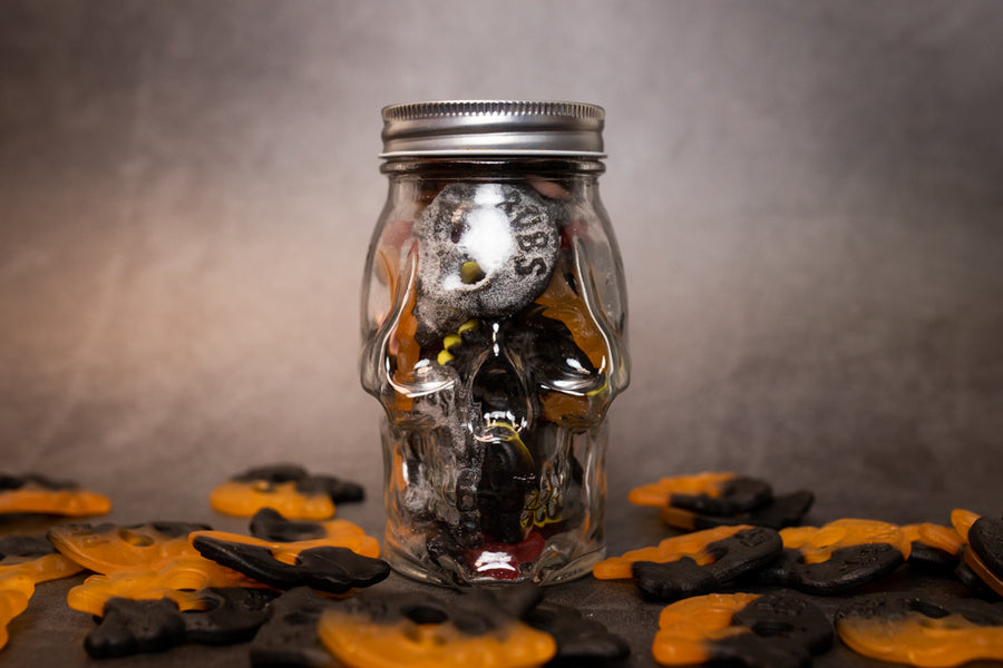 Jar of Licorice Skulls