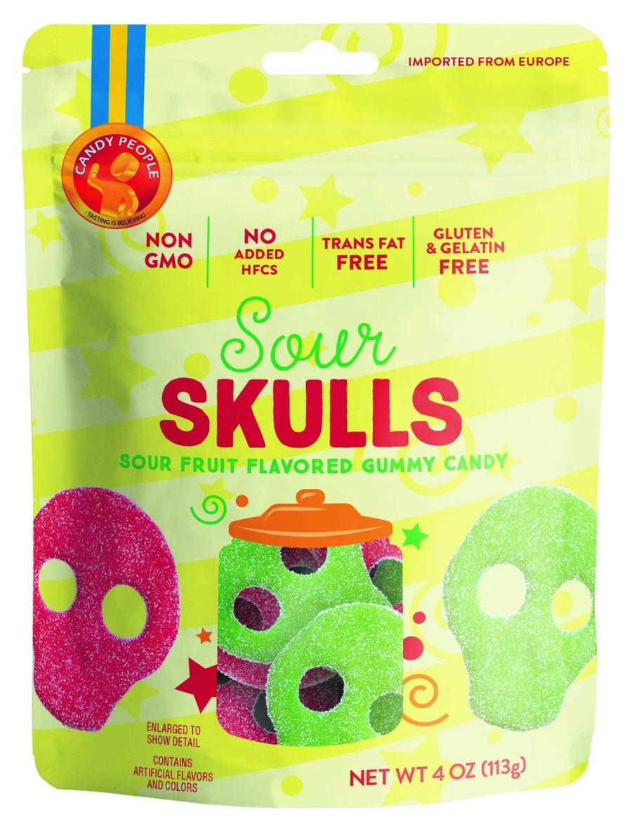 Candy People- Bagged Sura Skallar (Sour Skulls)