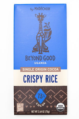 Beyond Good: Crispy Rice 73% Cocoa Chocolate Bar