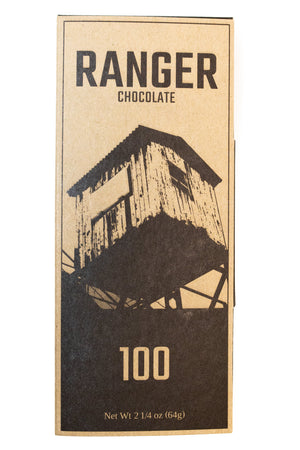 Ranger Chocolate 100% Dark Chocolate Bar